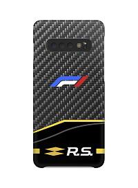 Coques F1 carbone Renault pour Samsung A10,A20e, A40, A50, A70, A80, A3, A5, A6, A7, A8, S10, S10e, S10+, S9, S9+, S8, S8+, S7, S7+, Note 9, 10, 10+